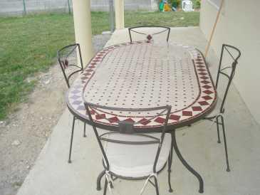 Table de jardin mosaïque occasion