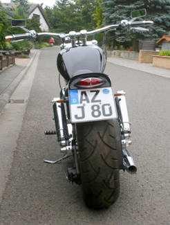 moto custom a vendre