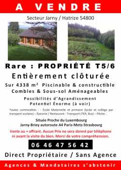 Photo : Propose à vendre Immobilier 4 338 m2