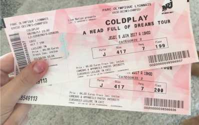 Photo : Propose à vendre Billets de concert COLDPLAY A HEAD FULL OF DREAMS TOUR - PARC OLYMPIQUE LYONNAIS