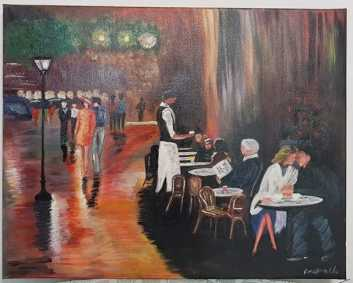 Photo : Propose à vendre Acrylique CAFETERIA - Contemporain